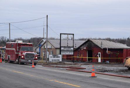 South Stormont Fire Services respond to antique shop blaze