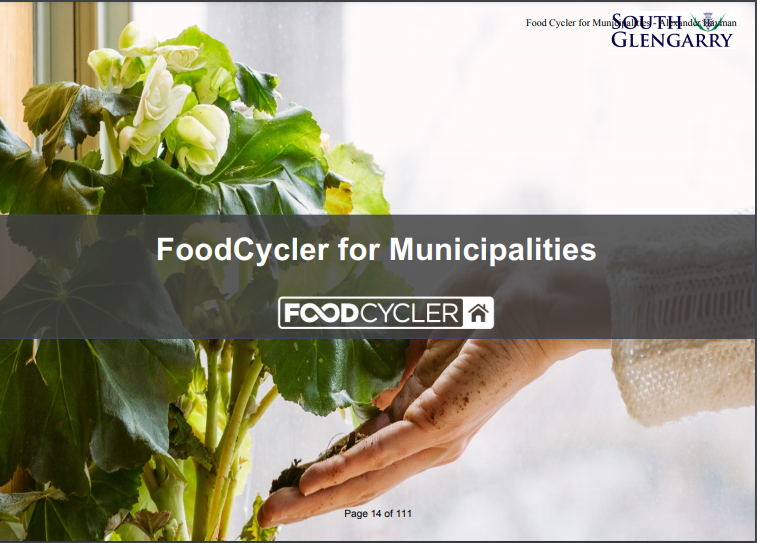 South Glengarry implements FoodCycler pilot program