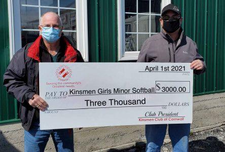 Kinsmen supports girls minor softball association