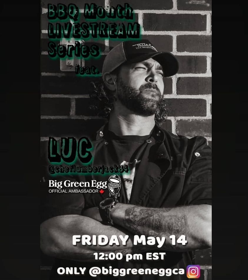 Luc McCabe celebrates BBQ month with Big Green Egg