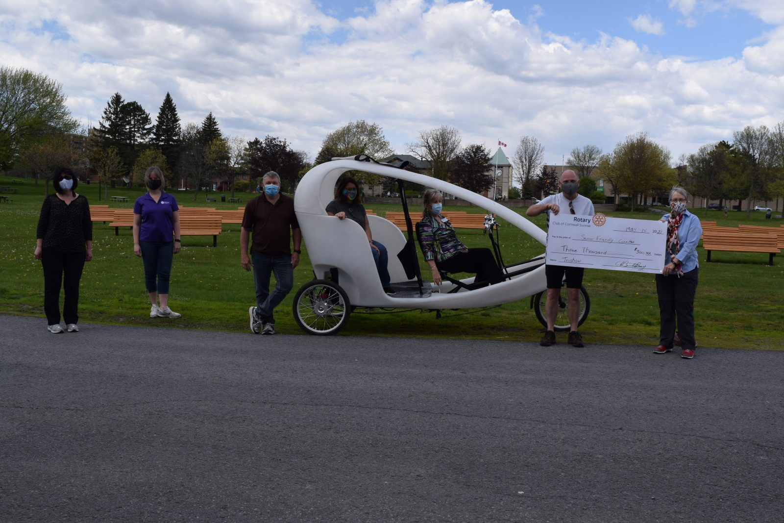 Rotary Sunrise supports senior pedicab project