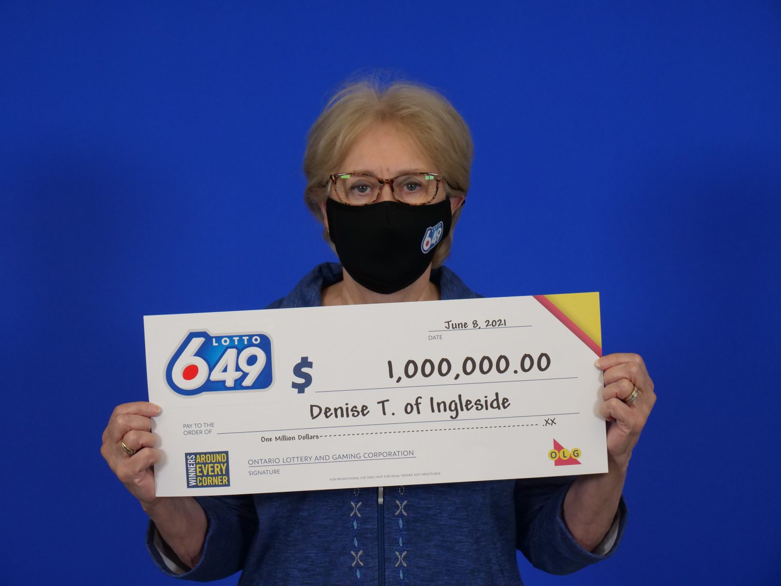Ingleside woman wins $1M with LOTTO 6/49