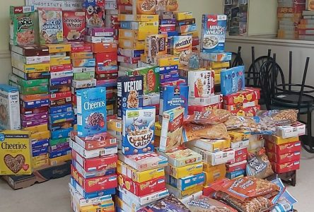 Village Diner collects nearly 300 boxes of cereal for Centre 105
