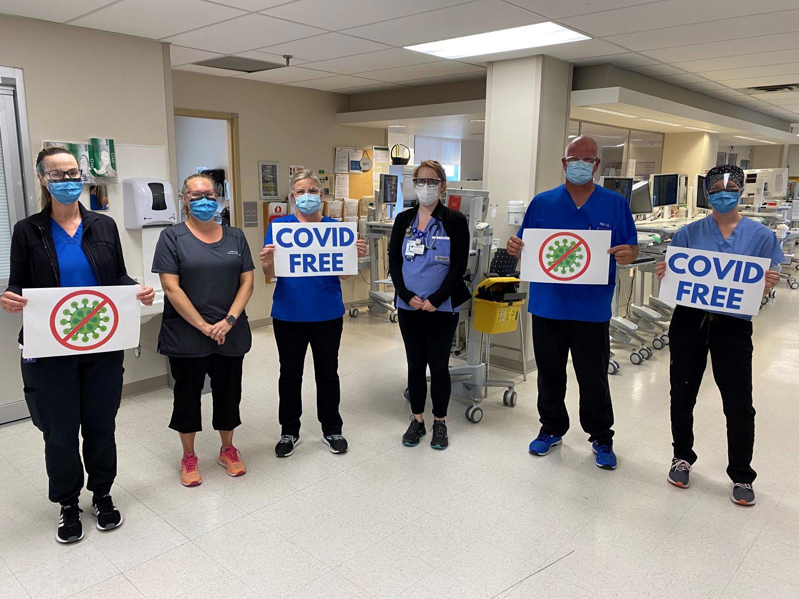 Zero active COVID-19 cases at CCH