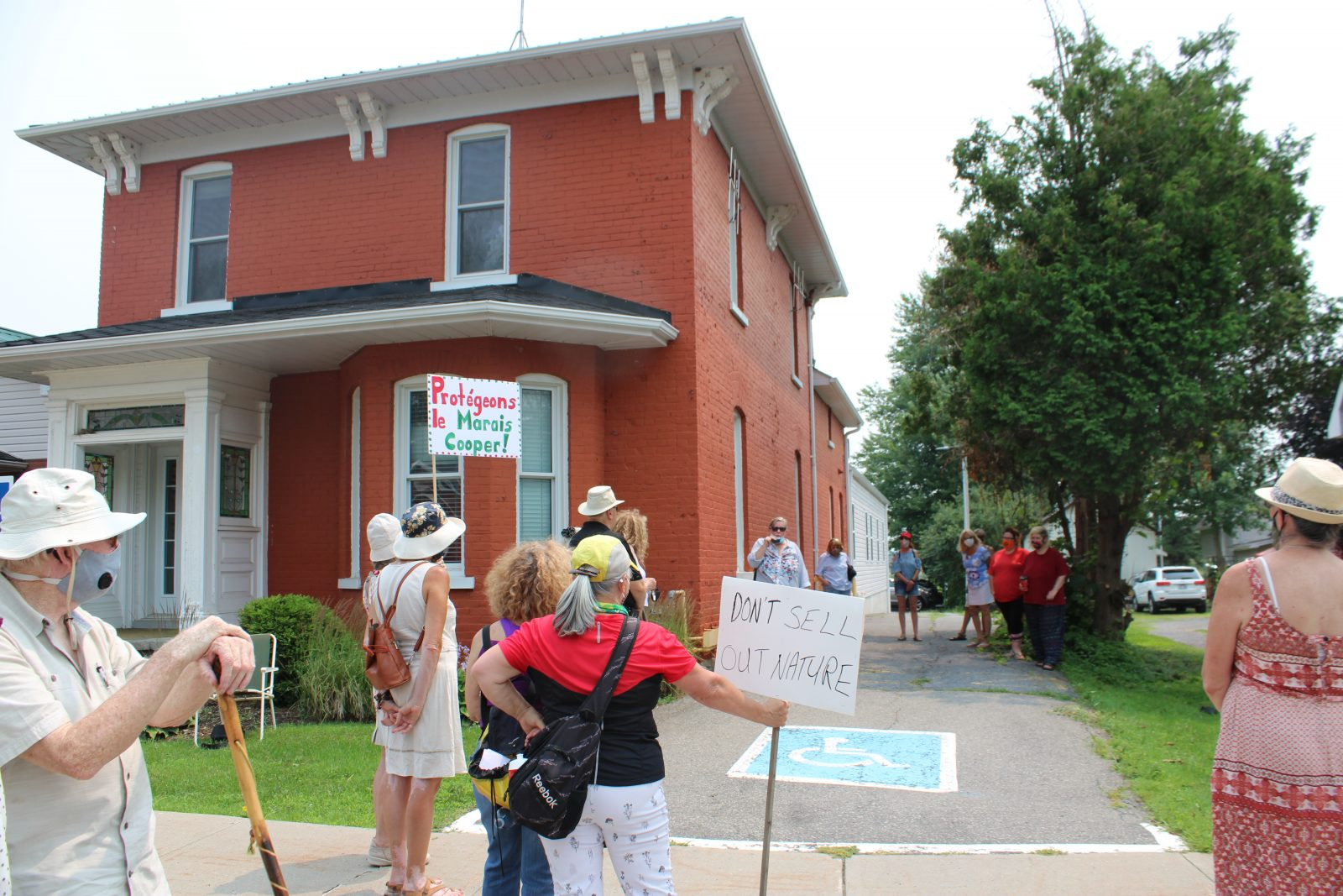 Protesters want to see Cooper Marsh protected