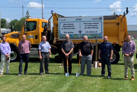 Construction of Morrisburg roundabout begins with sod-turning