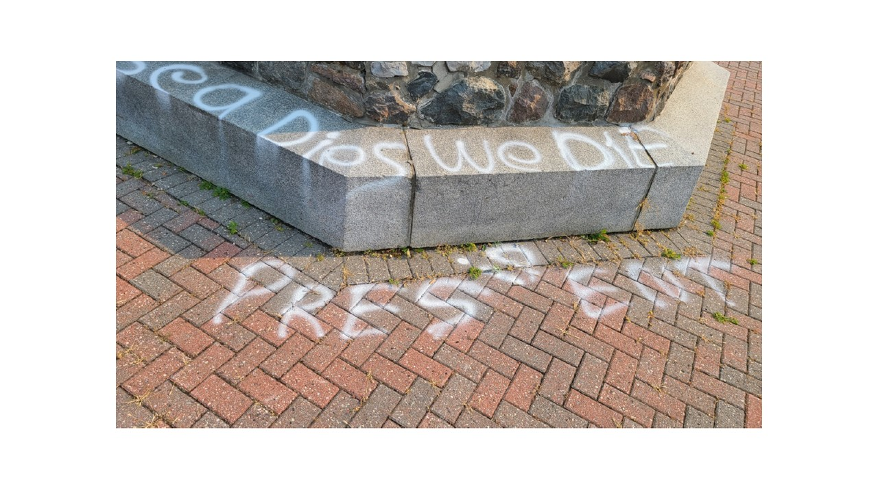 OPP search for suspect in vandalism of Alexandria Cenotaph