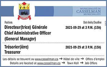 Directeur(trice) Générale, Chief Administrative Officer (General Manager) and Trésorier(ière) Treasurer