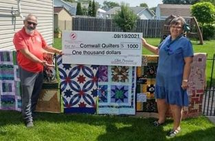 Kinsmen support Cornwall Quilters