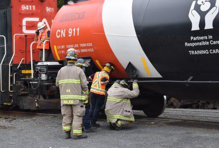 Cornwall emergency responders take part in train derailment exercise