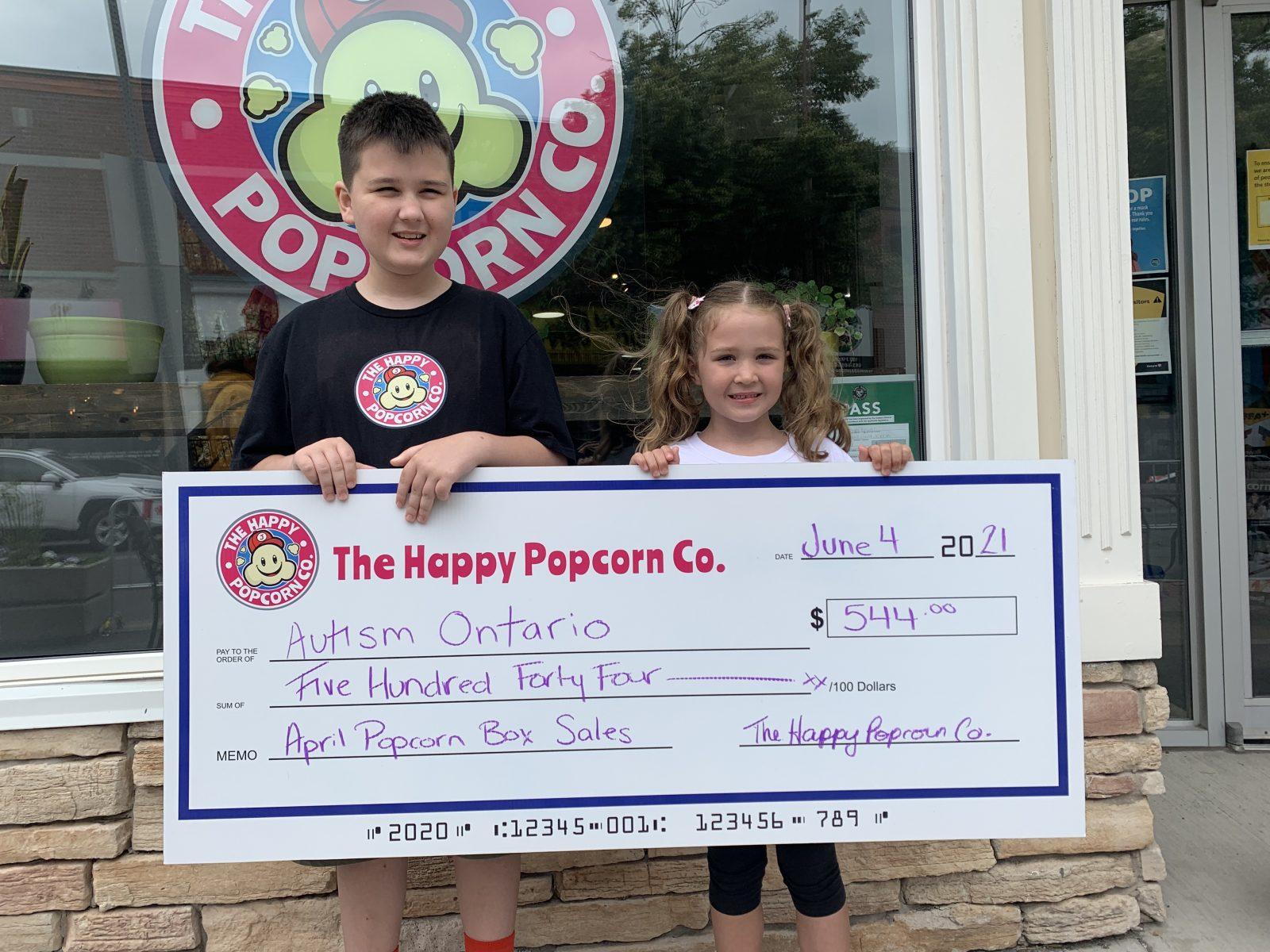 Happy Popcorn Co. donates to local non-profits