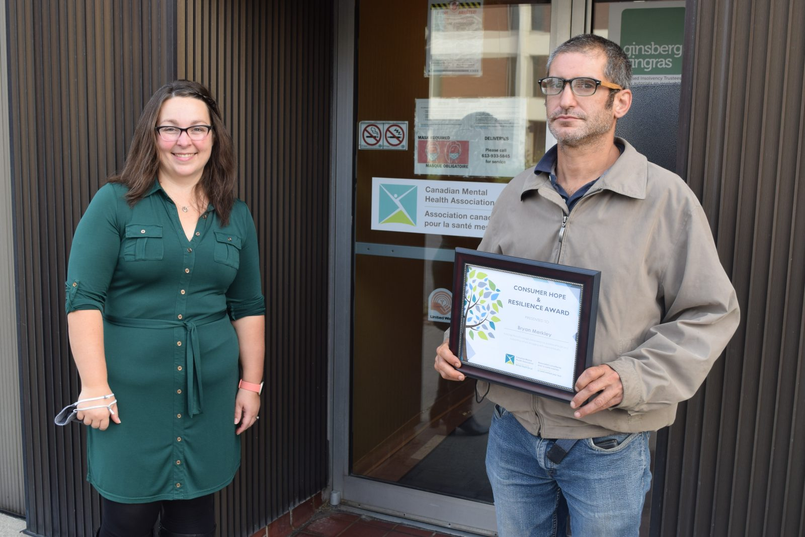 CMHA Consumer Hope & Resilience Award winner announced