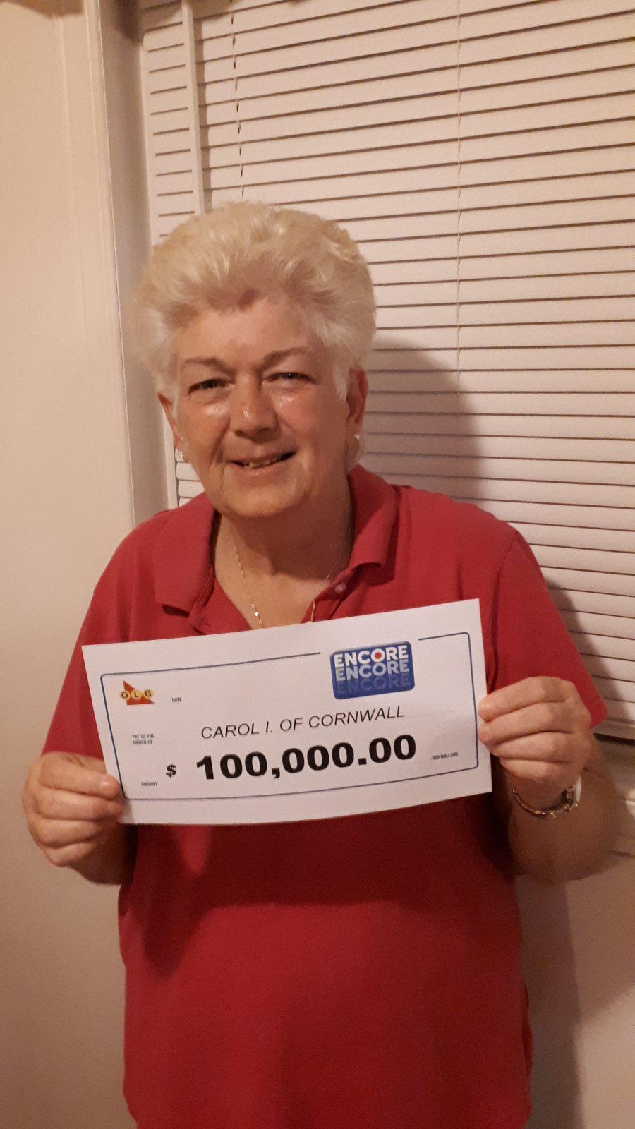 Cornwall woman wins $100K ENCORE